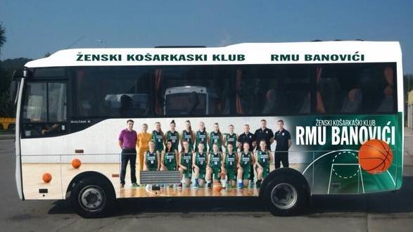 Košarkašice ŽKK RMU Banovići dobile brendirani autobus