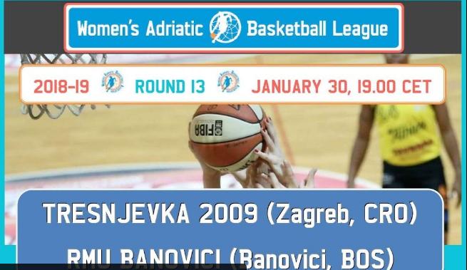Pratite UŽIVO utakmicu ŽKK Trešnjevka – ŽKK RMU Banovići