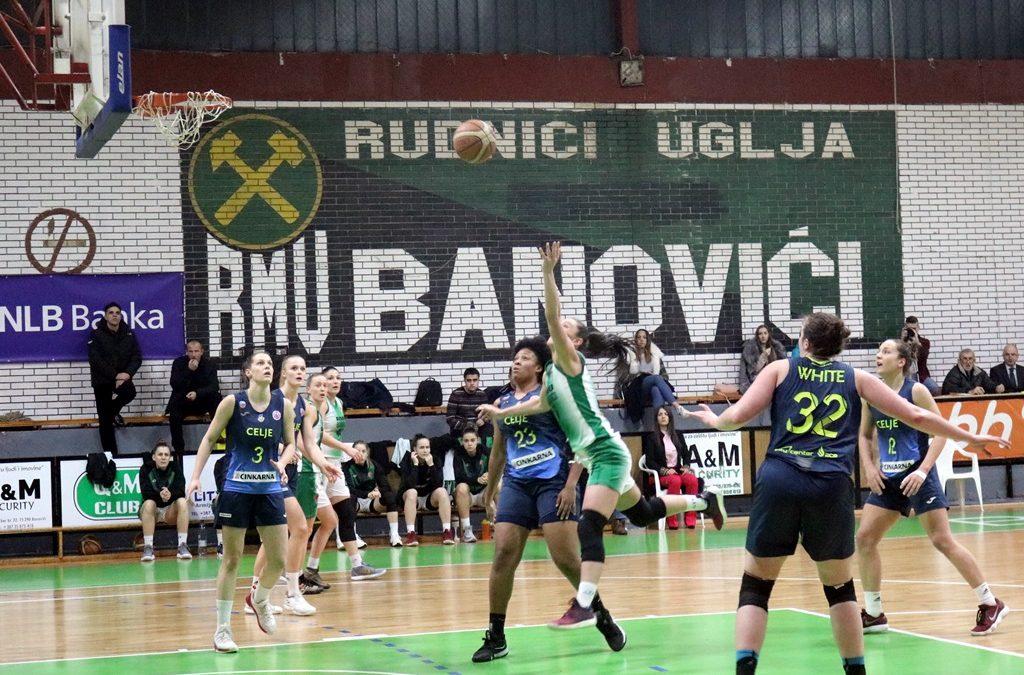 Težak poraz na domaćem terenu: Celje nadigralo Banovićanke (FOTO)