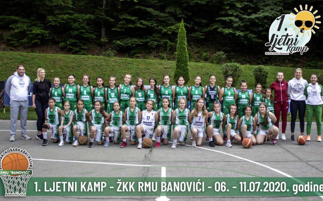 Prvi ženski košarkaški kamp Zlača 2020 u organizaciji ŽKK RMU Banovići