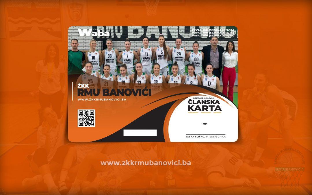 Počela prodaja članski karti za sezonu 2020/21.