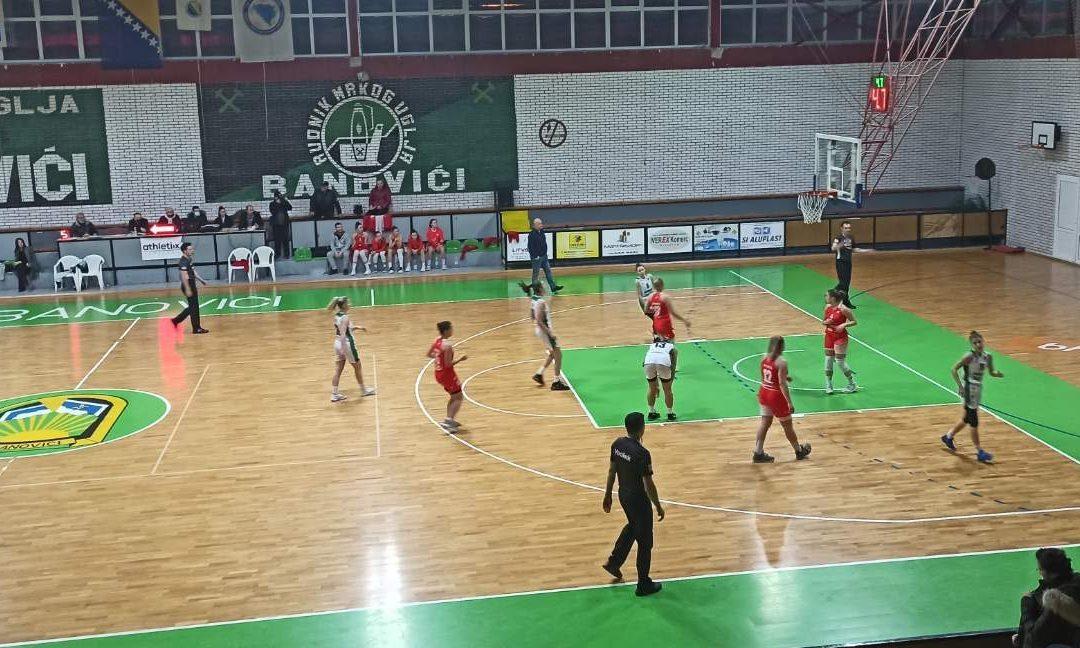 Košarkašice RMU Banovići došle su do pobjede u WABA ligi protiv Vojvodine 021